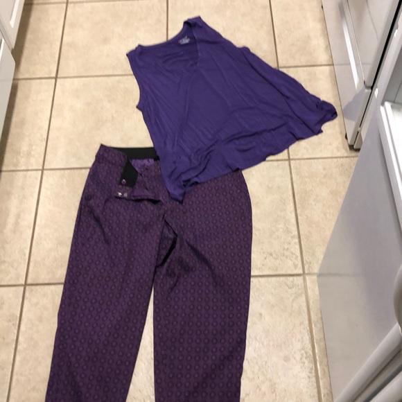 New Lane Bryant Dress Pants Slacks Trousers Mauve Purple 22 28